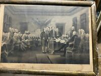 Antique Engraving Declaration of independence founding fathers America