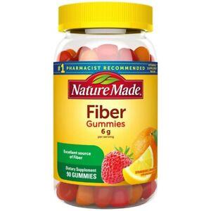 Nature Made Fiber/Fibre Gummies,Assorted Fruit,6 g Serving,90 Gummies USA Import
