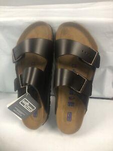 Birkenstock Arizona BS Brown Leather Slide Sandals #40 M/7, L/9 REG