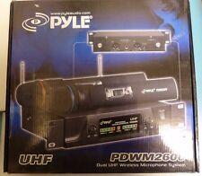 New Pyle PDWM2600 Dual UHF Wireless Microphone System