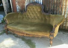 More details for victorian walnut settee for upholstery project