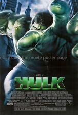 The Hulk 2003 Eric Bana US DS one-sheet
