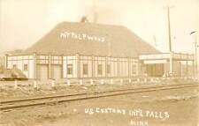 Minnesota, MN, International Falls, US Customs, Pulpwood 1930's Postcard