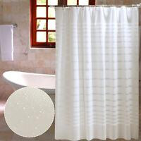 Rideau de douche imperméable luxe moderne d'épaisseur anti moisissure + crochets