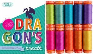 Aurifil Thread 50 wt Cotton 10 small spools Dragon's Breath by Tula Pink