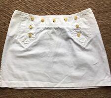 Burberry White Denim mini skirt size UK 10