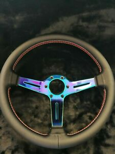 Universal ITSOK Steering Wheel 350mm Leather Multi-Color-2 For MO ND UKNEST