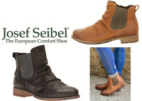 New leather comfort elastic Ankle Boots - Josef Seibel Shoes Germany - Sienna 59