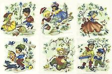 Ceramic Decals Illustrated Nursery Rhymes Vintage Style  Jack & Jill  Mary/Lamb