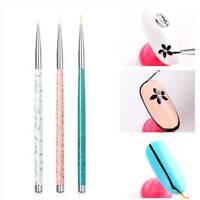 3 Pcs/Set Drawing Pen Manicure Tool Tips Nail Art Liner Brush Ultra-thin Line