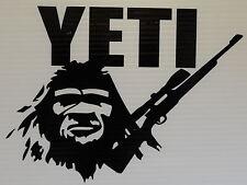 "YETI SASQUATCH BIGFOOT HUNTING STICKER  FITS YOUR COOLER BLACK 8X6"""