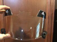 Adidas Football Vision Helmet Visor EyeShield Eye Shield Adult CLEAR ***NEW***