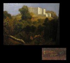 [ORIENTALISME ALGERIE ALGER] [Huile sur panneau d'acajou]. 1843. 41/25 cm.