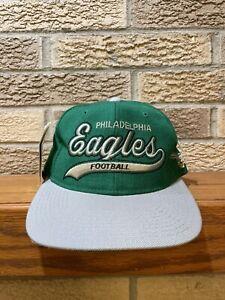 Vintage Philadelphia Eagles Snapback Hat Starter Script 100% Wool NWT NFL
