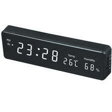 Electronic led wall clock with temperature and humidity display Home modern led