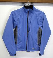 vtg Asics Windbreaker Warm-Up Track Jacket running periwinkle semi-fitted sz S
