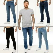Kruze Mens Straight Leg Stretch Jeans Regular Denim Work Pants All Waist Sizes