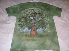 Guitar Tree Peace Symbol The Mountain Green Tie Dye T-Shirt Adult Large used