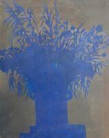Brigitte Tietze Berlin Ölgemälde Stillleben Schattenmalerei Blau Gräser Blumen