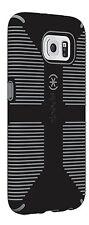 SALE!NIB SAMSUNG GALAXY S6-SPECK CANDYSHELL GRIP BLACK/SLATE/stripe SPK-A3876