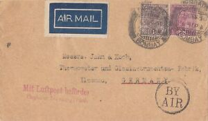 INDIA 1930  AIRMAIL COVER FROM BOMBAY TO GERMANY