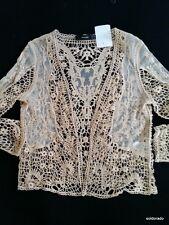 HALLHUBER chaqueta chaqueta de encaje champán talla 34/UK6 NUEVO