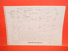 1971 FORD MUSTANG CONVERTIBLE BOSS 351 MACH I MAVERICK FRAME DIMENSION CHART