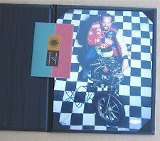 Kyle Petty on bike autographed photo - UDA COA !
