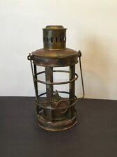 Brass Lantern, 14� Tall, Five Sided Glass Panes, Vintage
