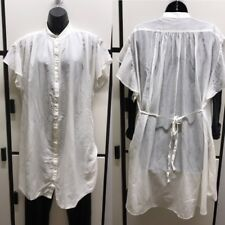Tsumori Chisato Japan 2 Cotton Polyester Airy Off White Oversized Shirt Dress