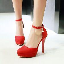 Womens Fashion Ankle Straps Platform High Heel Pumps Shoes AU Size 2.5--13 F335