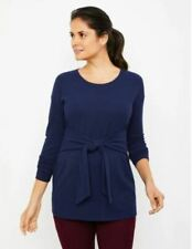 A PEA IN THE POD-DOLMAN SLEEVE CREPE MATERNITY TOP, XS, Dark Blue (38)