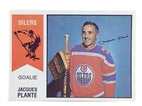 1974-75 Jacques Plante #64 Edmonton Oilers O Pee Chee Wha Ice Hockey Card H359