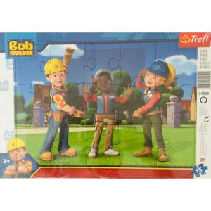 Trefl Bob The Builder 15 Piece Frame Puzzle - Kids Jigsaw Puzzle Toy