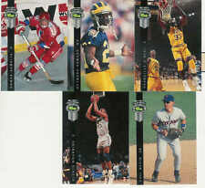 1992 CLASSIC FOUR SPORT DRAFT PICKS PROMOS COMPLETE SET 1-5 SHAQUILLE O'NEAL RC