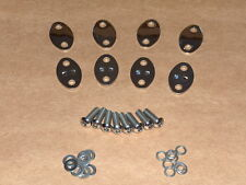 Norton STAINLESS Rocker Spindle Cover Kit COMPLETE w/bolts 650 750 Atlas P11