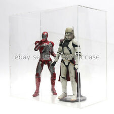 Clear Acrylic Case / Showcase for Collectibles w/door, Easy DIY, 12 inch figure