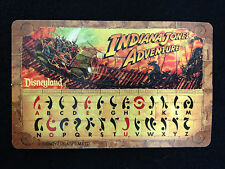 Disneyland Indiana Jones Adventure Decoder Card from ATT 1995 Opening Day
