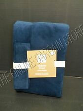 1 Pottery Barn Teen Blackout Corduroy Drapes Panels Curtains Navy Blue 52x96