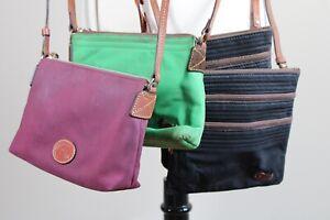 Lot of 4 Dooney & Bourke Multicolor Textile Small Crossbody Handbag Purse