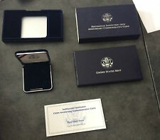 1996 Smithsonian Silver Dollar $1 Commemorative Proof BOX COA NO COIN