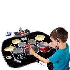 Kids Electronic Drum Kit Stick Music Play Mat Musical Fun Sound Toy Xmas Gifts