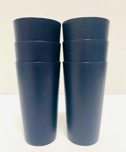 Mainstays Dark Blue 26-Ounce Plastic Tumbler-- 6pcs