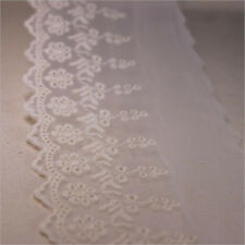 Lace Trimming Embroidered Cotton Mesh Bridal Applique Craft Sewing DIY 1 Yard
