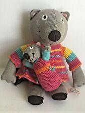 """LATITUDES ENFANT  Mouse & Baby Knit Sweater Plush Stuff Animal 13"""""""