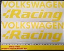 2x Volkswagen Racing Yellow Sticker, Sill, Side Skirt, Rear, Polo Golf R32 Lupo