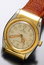 Rolex Watch | Rare 2-Tone Gold Hooded Bubble Back Original Dial & Mercedes Hands