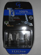 @NEW@ G5 T3 100 grain Broadheads! bow hunting expandable mechanical head tips