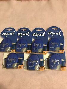 Lot Of 7 Equal Tablets Sugar Substitute Zero Calorie Sweetener SEALED Exp. 04/23