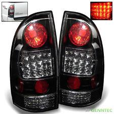 For 05-15 Toyota Tacoma LED Black Tail Lights Rear Brake Lamps Pair Taillight